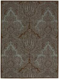 teal and brown at rug studio