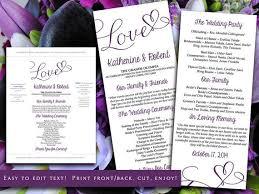 tea length wedding program template best 25 order of service template ideas on wedding