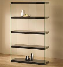 pretty bookshelves pretty glass bookshelves on modern glass bookcase display in black