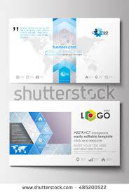 business card templates cover design template stock vector