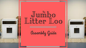 ecoflex jumbo litter loo hidden kitty litter box end table the jumbo litter loo assembly guide by new age pet youtube