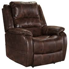 Leather Rocker Recliner Ashley Signature Design Barling Faux Leather Power Recliner W