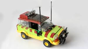 jurassic park tour car lego ford explorer from jurassic park instructions youtube