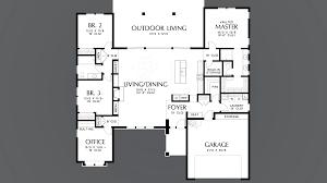 02 floor plan mascord house plan 1247a the baines