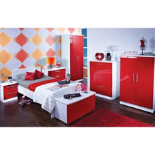 red gloss bedroom furniture