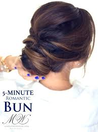 step by step easy updos for thin hair 5 minute elegant bun hairstyle click to watch hairstyles