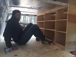 Cabinet Screws Lowes Bed Side Cabinet Storage U2013 Sprinter Van Diaries