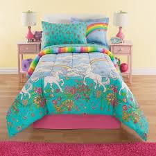 Girls Bedroom Quilt Sets Rainbows U0026 Unicorns Girls Full Comforter Set 8 Piece Bed In A Bag