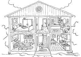 full house coloring page free download