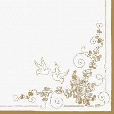 goldene hochzeit blumen lunch servietten tauben mit blumen bei servietten wimmel