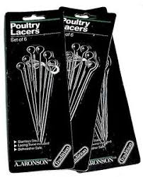 poultry lacers set of 3 packs aronson turkey poultry lacers preburnt tip