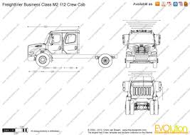 the blueprints com vector drawing freightliner business class