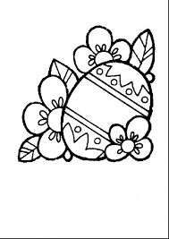 amazing easter basket coloring page with easter eggs coloring