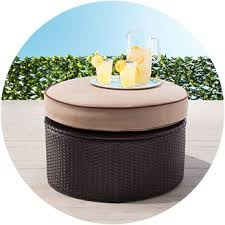 patio furniture with ottomans patio furniture target