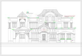 2d elevation and plan of 4bhk luxury house 4198 sq ft home