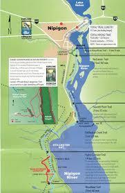 Green Circle Trail Map Thunder Bay To Nipigon Lake Superior Circle Tour