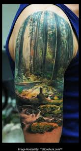 amazing 3d nature on half sleeve photos pictures
