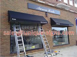 business awnings and canopies signs and canopies hertfordshire watford shop signs canopies