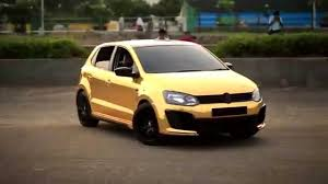 volkswagen polo white colour modified wrapping of polo in gold chrome youtube