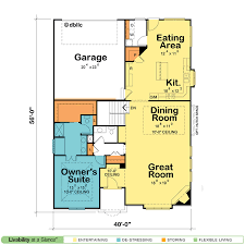 Great Room Floor Plans Single Story Pretty Ideas 7 One Story House Plans For A View With Open Floor