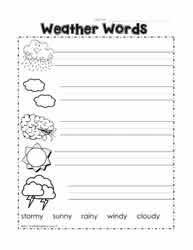 Kindergarten Weather Worksheets Weather Worksheets Worksheets