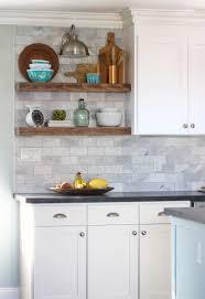 kitchen sheved how to install floating kitchen shelves over a tile backsplash