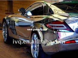 chrome silver color change film car body sticker air bubble free