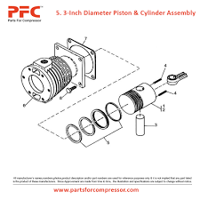04 05 3 inch diameter piston u0026 cylinder assembly for 71t2 ir