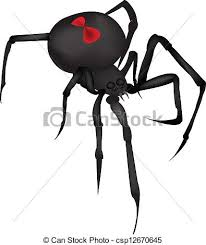 black widow spider vector by angeladesigns eps vector search