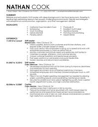 Bar Resume Examples by Best Restaurant Bar Shift Leader Resume Example Livecareer