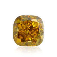 0 87 carat fancy deep orange yellow loose diamond natural color