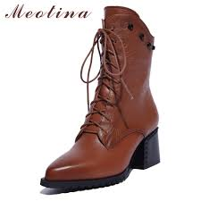 heeled motorcycle boots online buy wholesale boots genuine leather high heel from china