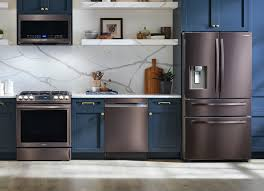 what color appliances with blue cabinets tuscan stainless steel appliances samsung us