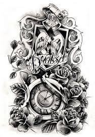 21 best clock tattoo flash images on pinterest clocks flower