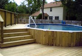 above around pools with decks in a vintage mood natural wooden