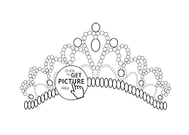 pretty tiara coloring page for girls printable free coloing