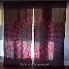 Boho Window Curtains Mandala Tapestry Curtains Boho Window Treatments Boho