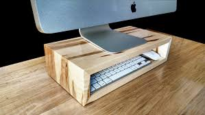 Laptop Riser For Desk Ambrosia Maple Monitor Stand Desk Organizer Computer Riser