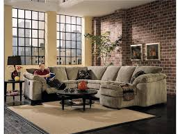 Klaussner Sectionals Klaussner Legacy Left Arm Reclining Love Seat And Right Arm Chaise