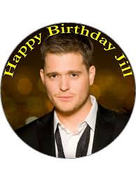 michael cake toppers 7 5 personalised michael buble edible icing or wafer birthday cake