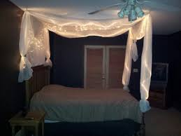 Diy Canopy Bed Diy Canopy Bed With Lights Home Interior Plans Ideas Simple Diy