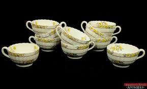vtg 29 pc copeland spode imperial buttercup china set