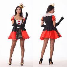 halloween costumes women red queen of hearts costume dress