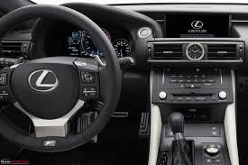 lexus rcf white interior lexus rc f performance coupe 460 bhp v8 u0026 bmw m4 rival team bhp