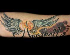 baby memorial tattoos footprints with wings my