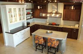 decorating glossy wooden flooring in modern kitchen design with