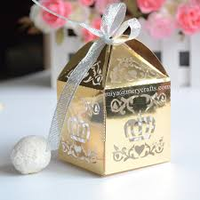 personalized baptism favors personalized gold boxes for christian baby souvenirs with crown