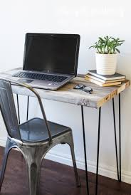 how to build a diy reclaimed wood desk with hairpin legs home