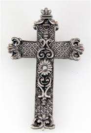 religious lapel pins 6030111 beautiful ornate detailed brushed silver cross lapel pin