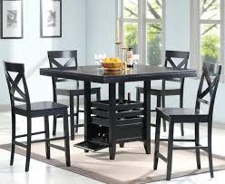 modern black dining room sets black counter height chairs dining room modern black counter